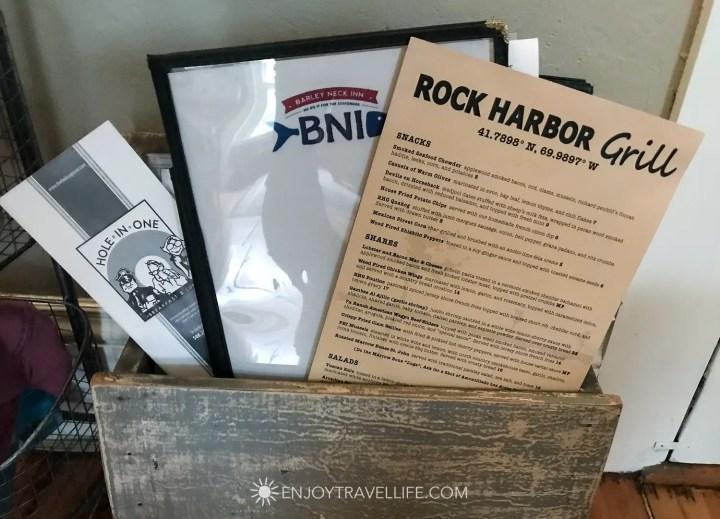 The Parsonage Inn Orleans Cape Cod Outer Cape Escape menus