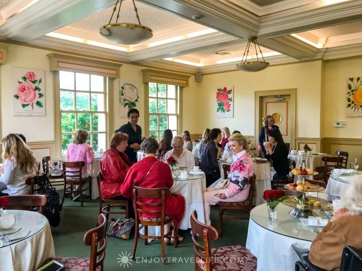 The Tea Room in The Huntington Rose Garden