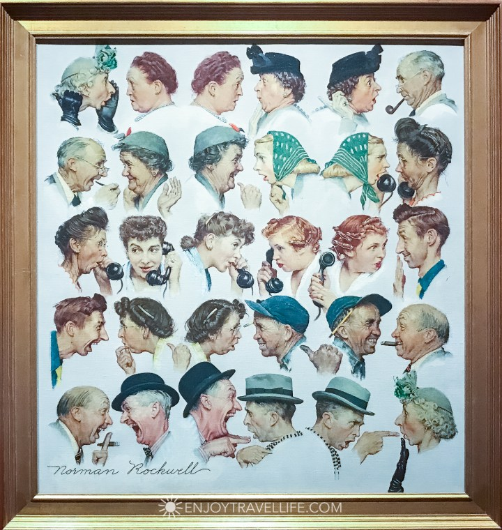 Norman Rockwell Museum in Stockbridge Ma - caricatures