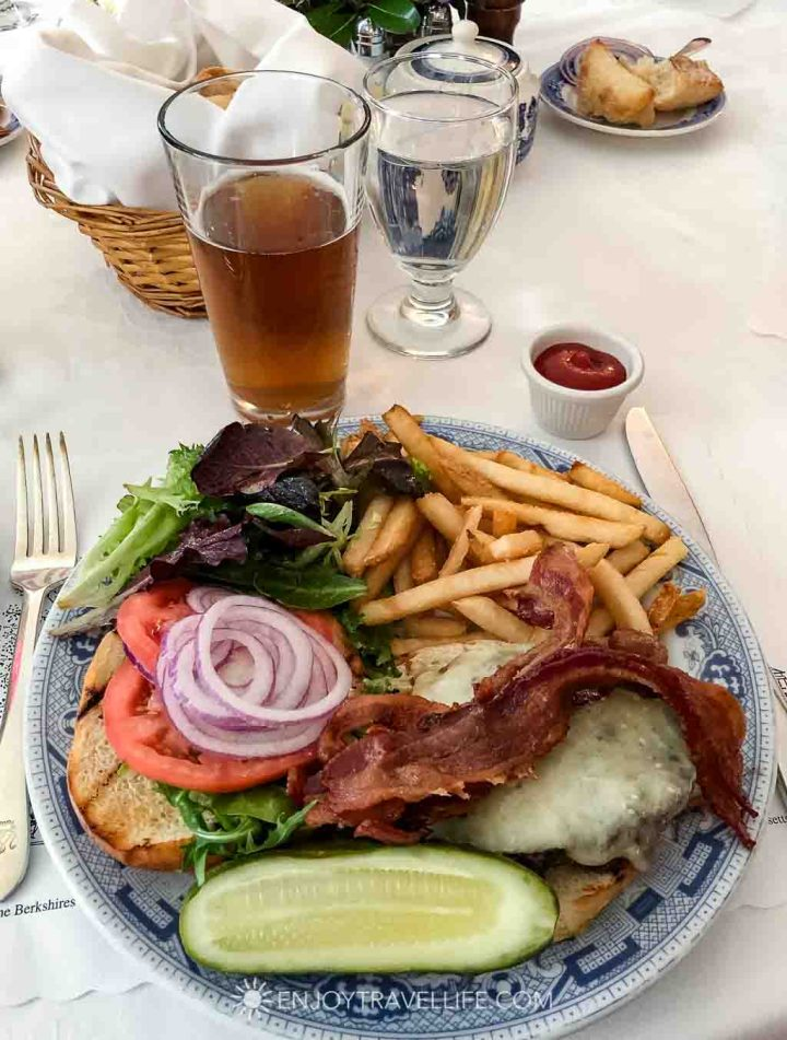 Red Lion Inn Menu item - Beef Burger with Bacon