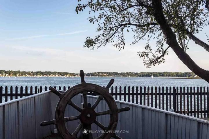 House of the Seven Gables grounds overlooking Salem Harbor, Salem MA