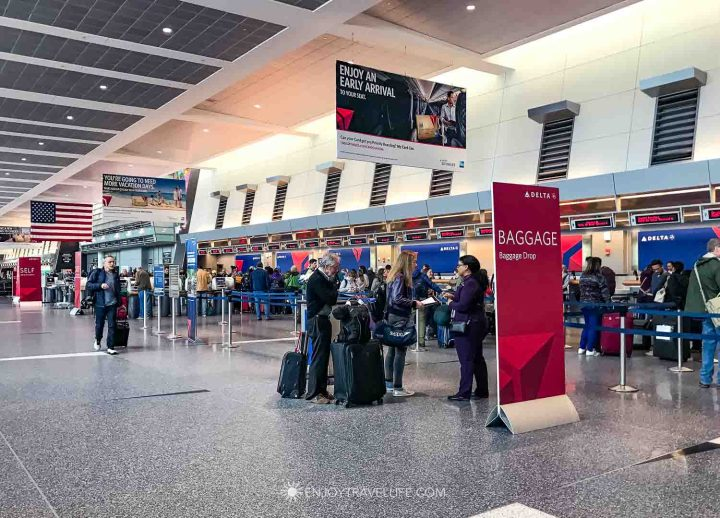 Baggage at Logan International Airport Boston MA