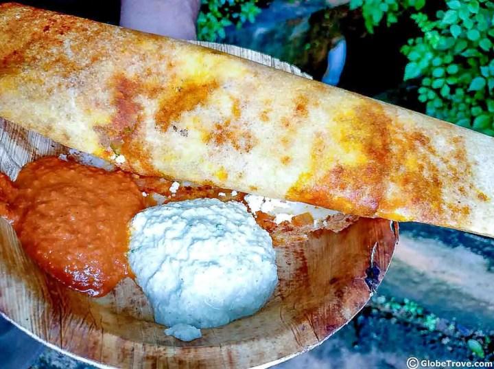 A crepe-like Dosa from Bangalore, Inda