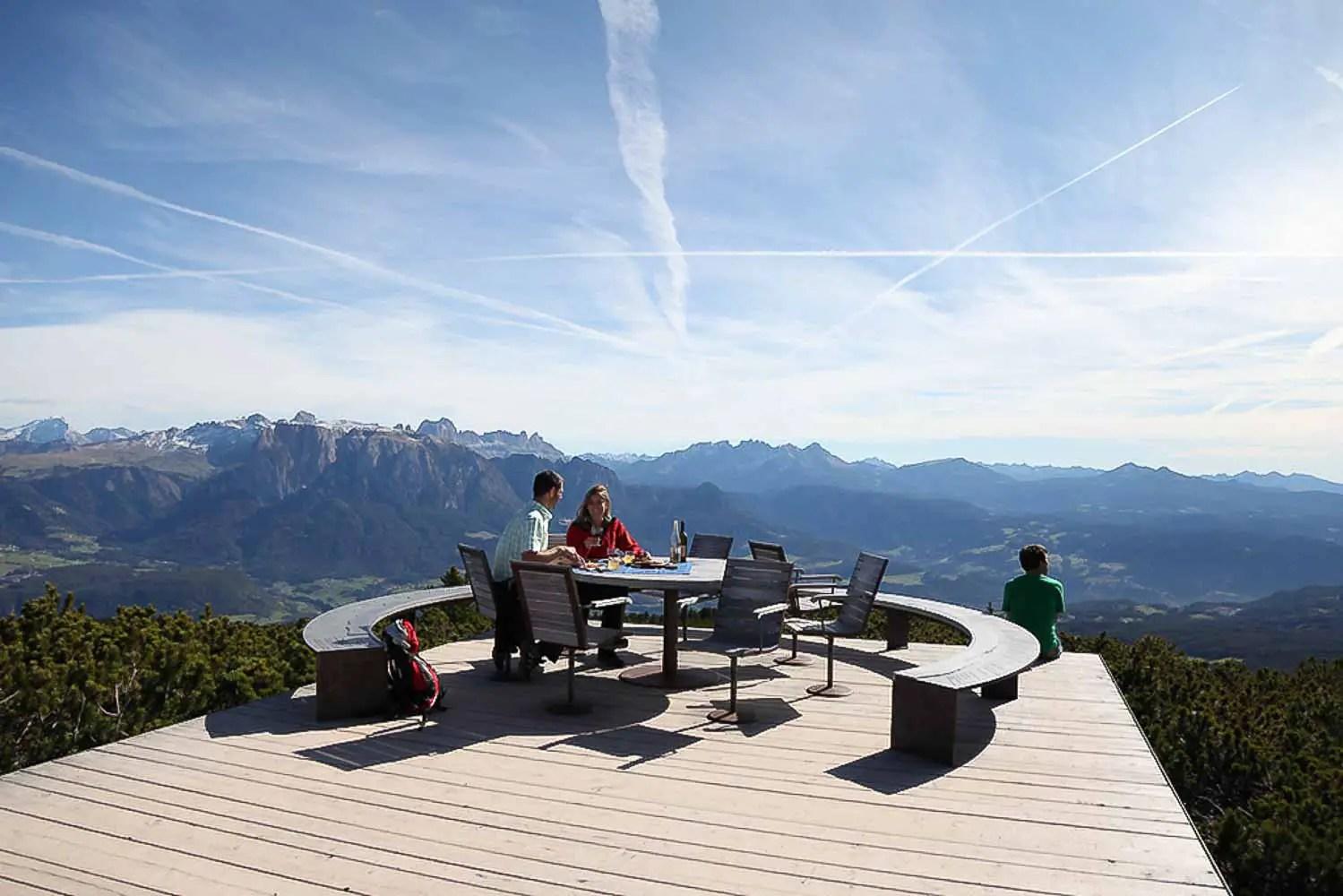 Overlooking the mountains and valley in Klobenstein - Tirol, Italy