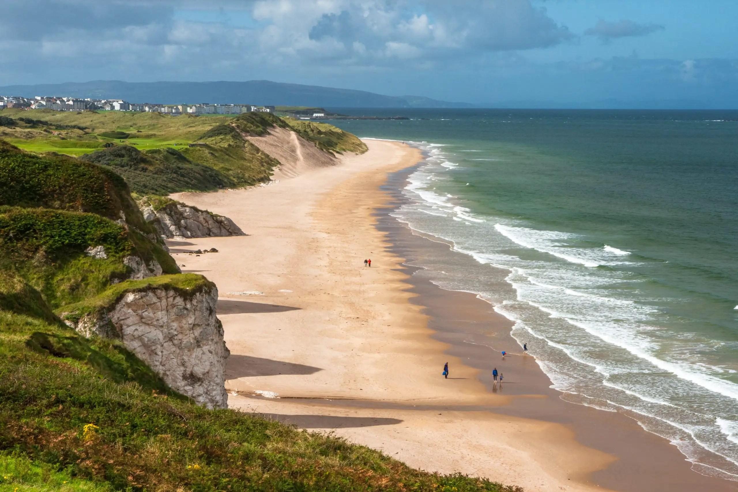 Portrush seaside resort town in Northern Ireland