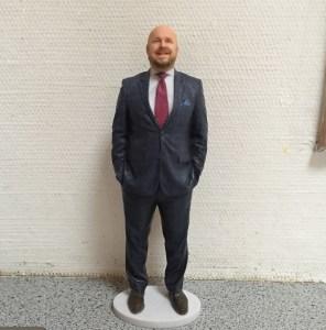 Sånn ser den ut - 3D-modelle av meg selv. Her på kjøkkenbenken.