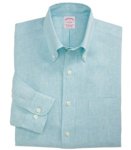 Button-down-skjorte i 100% lin fra Brroks Brothers (Foto: Brooks Brothers)