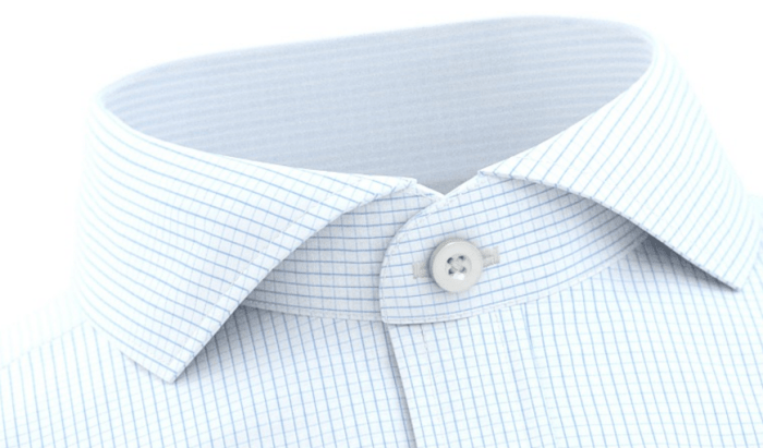 Cut-away-.snipp. Hentet fra skjortedesigneren til Tailorstore