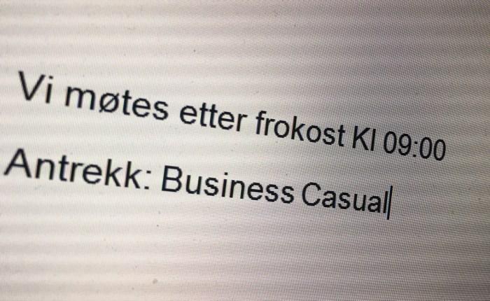 Antrekk: Business Casual