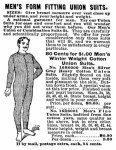 "Annonse for ""union suit"" fra 1902"