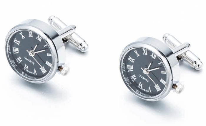 Nye mansjettknapper – med klokke