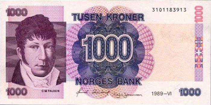Selv godeste Christian Magnus Falsen brukte cravat. Det ser man på samtidige bilder av ham, og også på 1000-lappen