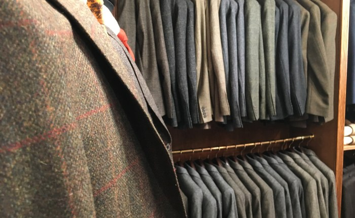 En tweed-dress fra Walker Slater
