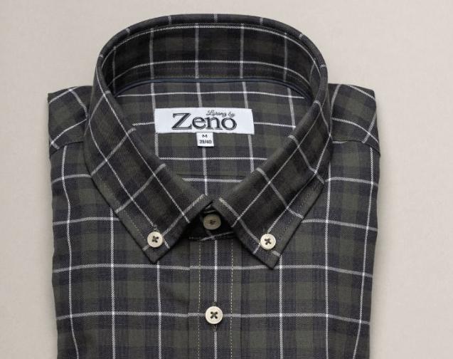 9a09a5e8 Rutete flanellskjorte som faktisk er i bomullsflanell, fra Lorang by Zeno  (Foto: Zenostore.no)