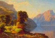 George Caleb Bingham - Lac entre les montagnes, vers 1856-1859