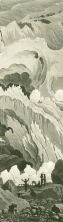 Samuel Birmann (suisse, 1793-1847) - source de l'Arveyron (détail), 1830