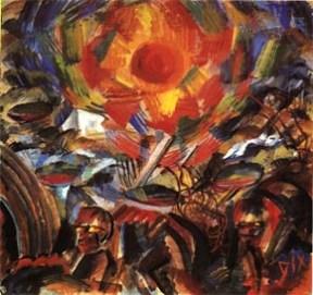 Otto Dix - La Guerre, Soleil couchant, 1918