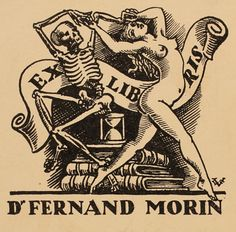 Art-exlibris.net - exlibris by Valentin Le Campion for Dr. Ferdinand Morin