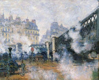 1877 - Claude Monet - Gare Saint-Lazare, le pont de l'Europe