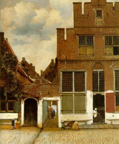 Vermeer - rue de Delft - vers 1657