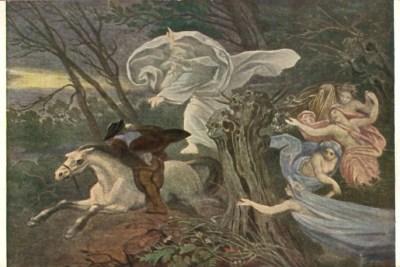 Erlkoenig, illustration de Moritz von Schwind, 1917