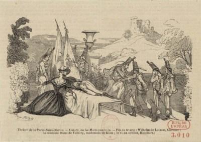 Lénore - illustration d'Eugène Forest - 1843