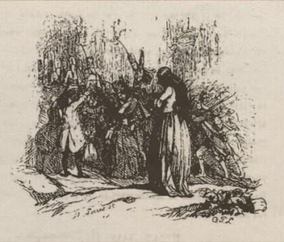 Le retour ou Lénore - Octave Penguilly gravure Louis - 1842