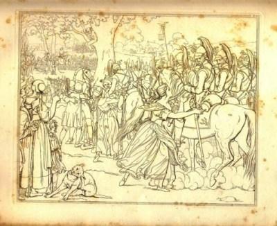 Lenore - illustration de Moritz Retzch - 1840