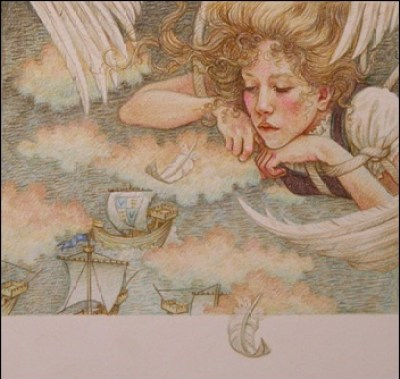 les cygnes sauvages - illustration Yvonne Gilbert