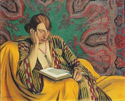 Vallotton - la liseuse - 1922