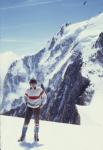 Dans la Vallée Blanche à Chamonix devant la face sud du Mont-Blanc