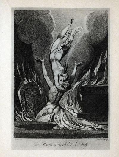 The Sepulcre of Blair, The reunion of Soul and Body (1806) - Gravure de Schianonetti d'après le dessin de Blake