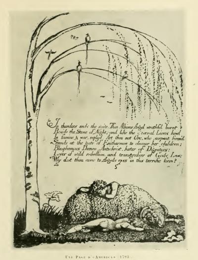 William Blake - Une page d'America