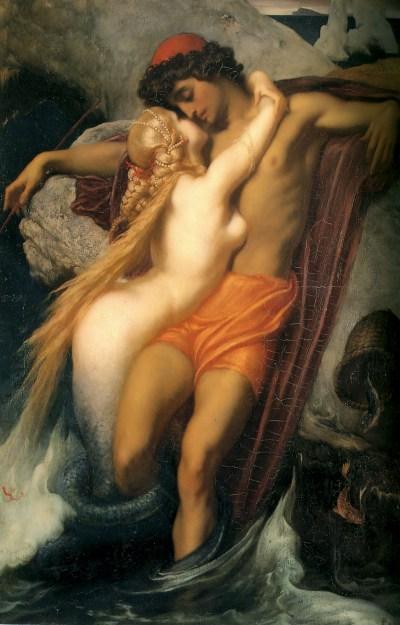 Frederic Leighton - la Sirène et le pêcheur - 1856-1858