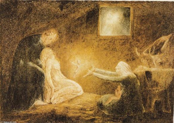 William Blake - la Nativité, vers 1800