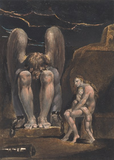 William Blake - America. A Prophecy, Frontispice (1793)