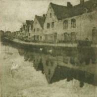 Tavik Frantisek Simon - canal à Bruges (Lange Rei), 1906/1907