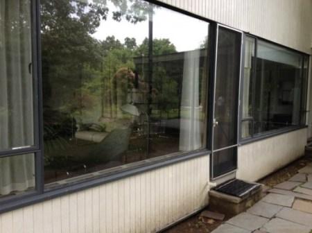 Gropius House à Lincoln : façade des salles de séjour et à manger