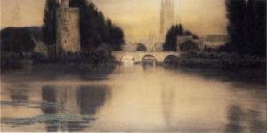 FernandKhnopff+InBruges-TheMinnewater+1904+RoyalMuseumOfFineArts-Brussels
