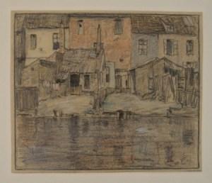 Tavik Frantisek Simon - canal à Bruges, 1906