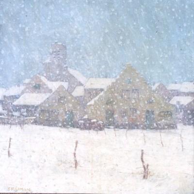Tavik Frantisek Simon - l'hiver à Bruges, vers 1911 - Musée des Augustins à Toulouse