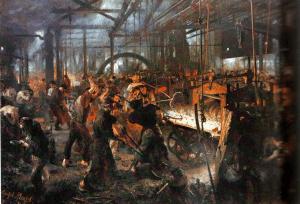 Adolf von menzel - la fonderie, 1875