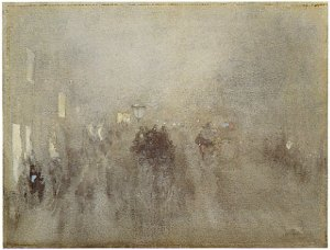 James Whistler; Nocturne in gray and gold — Piccadilly 1881