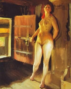 Anders Zorn - Girl in the Loft, 1905