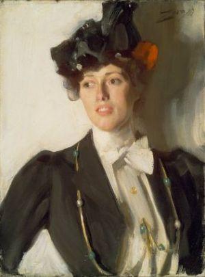 Anders Zorn - Artha Dana (later Mrs. William Mercer), 1899