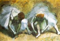 Degas - Danseuses attachant leurs sandales (détail), 1883