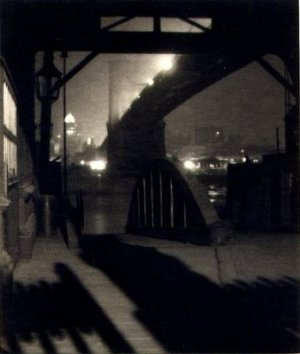 Karl Struss - Brooklyn Bridge from Ferry Slip, Night, 1915.