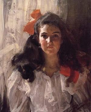 Anders Zorn - portrait de jeune fille, 1881