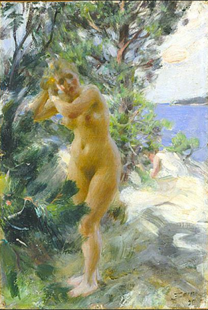 Anders Zorn - après le bain, 1895