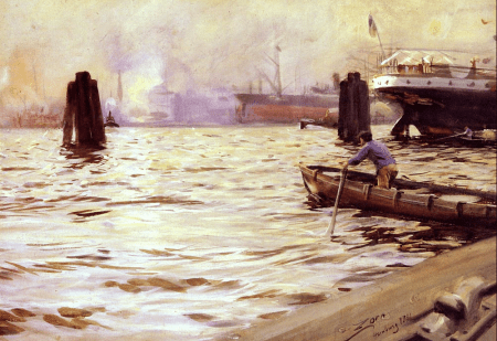Anders Zorn - le port d'Hambourg, 1891